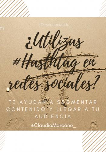 Hashtag en redes sociales
