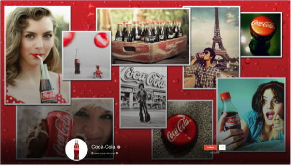 Antiguo diseño Google+ de Coca- Cola
