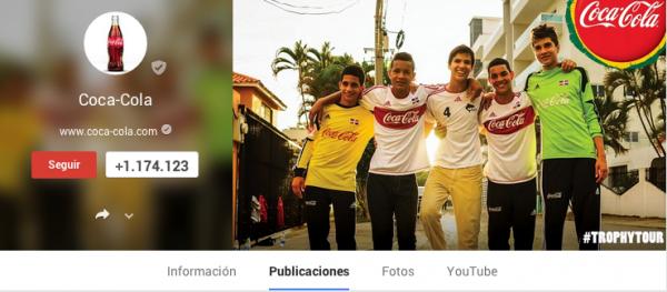 Nuevo diseño Google+  Coca- Cola