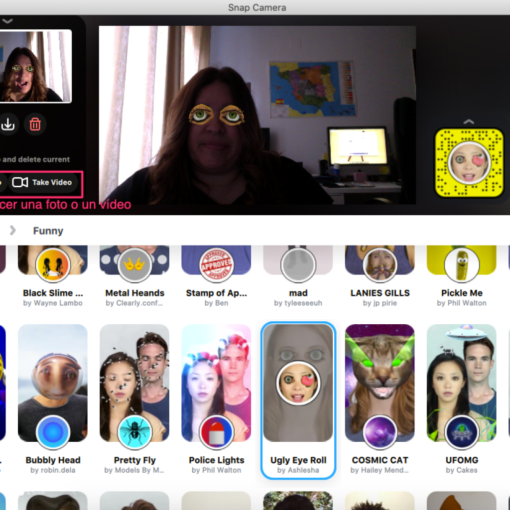 Filtros para videollamadas con Snapchat